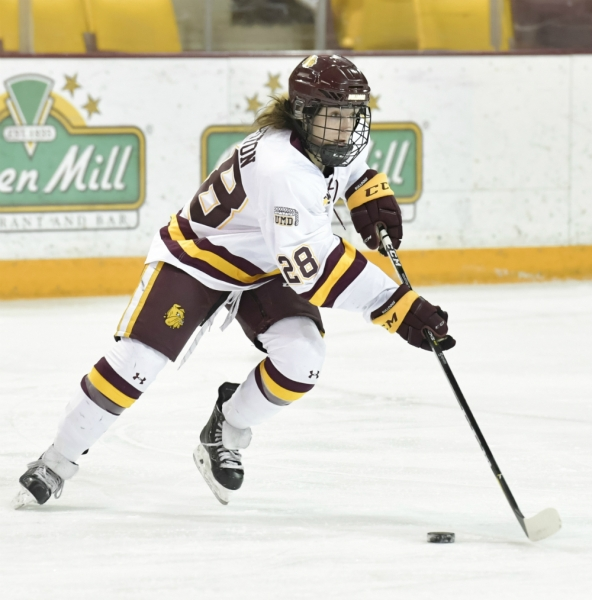 Junior forward Ryleigh Houston of Minnesota Duluth. (UMD Athletics)