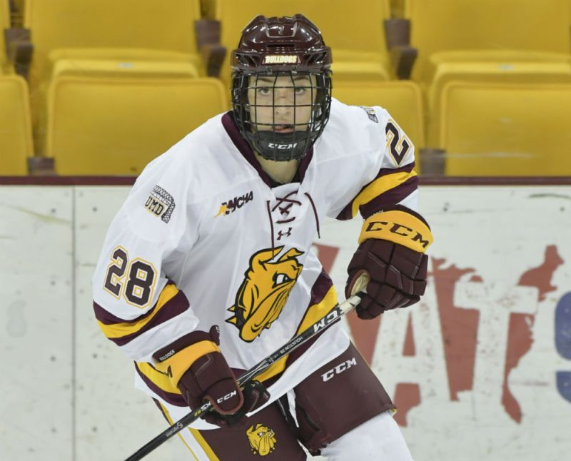 Forward Ryleigh Houston of the Minnesota Duluth Bulldogs. (UMD Athletics)